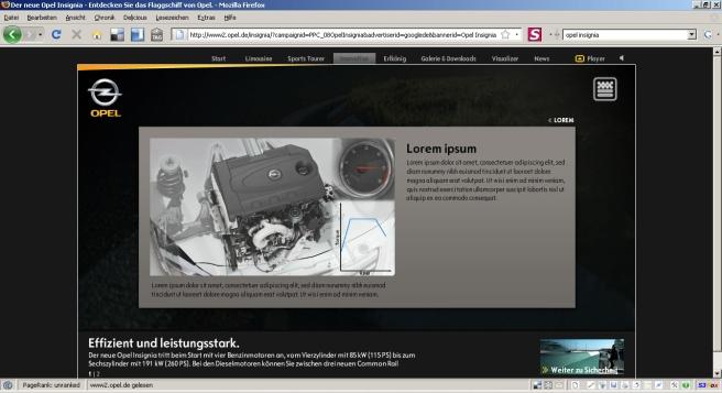 Lorm Ipsum Opel Insignia